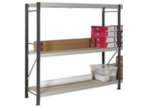 3 Shelf Longspan Starter Bays - 2400mm Wide, Chipboard Decks