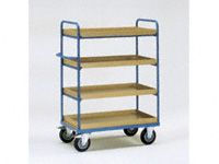 Fetra 4-shelf H/D Tray Trolley 1000x600x1500 LxWxH