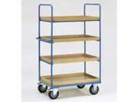 Fetra 4-shelf H/D Tray Trolley 1000x600x1800 LxWxH