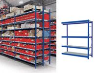 4 Shelf Longspan Extension Bays - 1800mm Wide, Steel Decks