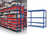 4 Shelf Longspan Extension Bays - 2400mm Wide, Steel Decks