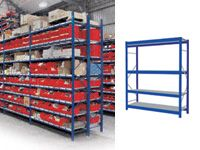 4 Shelf Longspan Starter Bays - 1800mm Wide, Steel Decks