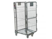 4-sided split gate roll cage container 1690 high