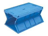 60 Litre Polypropylene Folding Box, Blue - MOQ 5