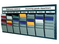 A5 Landscape Document Display Racks 16 Pockets - Various Colours