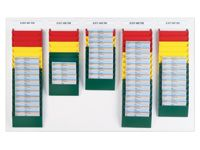 A5 Portrait Display Racks 10 Pockets - Various Colours