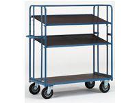 Fetra Adjustable Shelf Trolley 1430x620, 3 x ply shelves