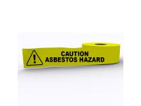 Asbestos Hazard Printed Warning tape