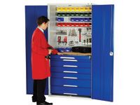 Bott Cupboard c/w 7 drawers + perfo and louvre panels