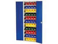 Bott Steel Storage Cupboard - 10 Shelves, 66x no.3 Bins