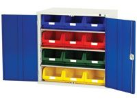 Bott Steel Storage Cupboard - 3 Shelves, 8x no.5 Bins