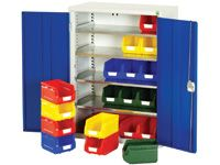 Bott Steel Storage Cupboard - 4 Shelves, 30x no.3 Bins