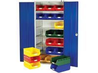 Bott Steel Storage Cupboard - 6 Shelves, 21x no.5 Bins