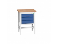 Bott  Adjustable Workstand with 3 drawers with MPX worktop