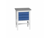 Bott  Adjustable Workstand with 3 drawers with lino worktop