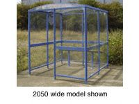 Clear Dome Smoking Shelters ranging from 3 to 18 people