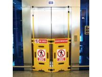 Elevator safety guards / barriers (pair)
