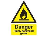 Danger Highly Flammable Gases Safety Signs