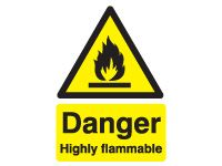 Danger Highly Flammable Safety Signs