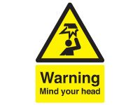 Danger Mind Your Head Warning Signs