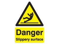 Danger Slippery Surface Safety Signs