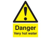 Danger Very Hot Water Safety Signs