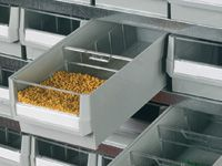 Drawer dividers for small parts trolley
