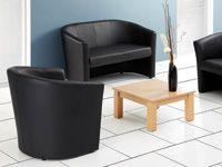 Encounter leather-look sofa tub seat
