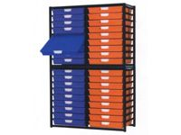 Extra Wide Tray Double Shelving System 1910mm H