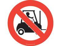 Floor marker sign: No Forklifts