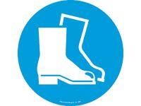 Floor marker sign: Protective Footwear