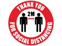 Social Distancing floor Sticker sign pack of 10