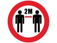 Social Distancing floor signs pack of 10