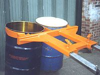Forktruck Drum Lifter, two drums, 1000kg capacity