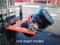 Forklift Drum Tilter, looped chain, 360kg capacity