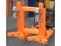 Fork-truck Rim Grip Drum Handler, 2 drums for Forklift