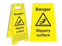 Freestanding Janitorial Sign, Danger slippery