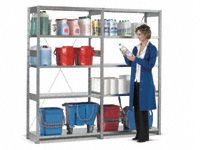 FST bolt free shelving, 2 bay run 2000x2100x500