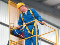 Full safety harness for use in forklift platforms