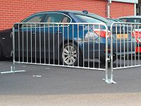 Galvanised 18 Bar Crowd Control Barrier