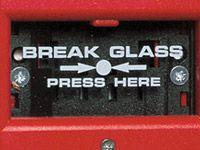 Glass panels for Screamer fire alarm