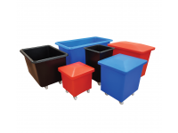 Heavy Duty Food Grade Polyethylene Trucks - Tapered Sided