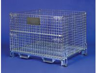 Heavy duty mesh collapsible cage pallet 1000mm D (1)