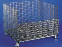 Heavy duty mesh collapsible cage pallet 1000mm D