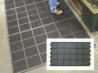 High duty anti fatigue mat edged 2 long sides