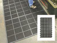 High duty anti fatigue mat edged 2 short sides