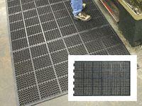 High duty anti fatigue mat edged 2long 1short side