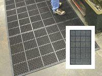 High duty anti fatigue mat edged all round