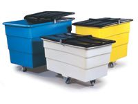Large Food Grade Polyethylene Tidy Trucks With Lids