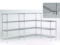 Livewire Chrome Shelving Starter Bays - 450mm Deep